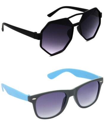 Air Strike Grey Lens Black & Blue Frame Latest Goggles For Men Women Boys & Girls - HCMBO4410