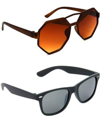 Air Strike Brown & Black Lens Brown & Black Frame New Goggle For Men Women Boys & Girls - HCMBO4514