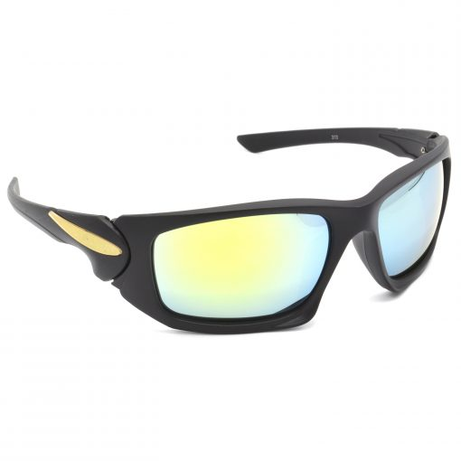 Air Strike Silver & Yellow Lens Black & Silver Frame Stylish Goggles For Men & Boys - HCMBO4723 - extra -5