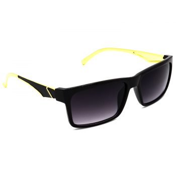 Air Strike Grey & Yellow Lens Golden & Silver Frame Fashion Goggles For Men Women Boys & Girls - HCMBO4918 - extra -5