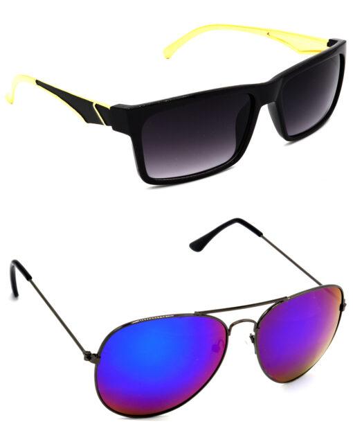 Air Strike Grey & Pink Lens Golden & Grey Frame Latest Sunglasses For Men Women Boys & Girls - HCMBO4870