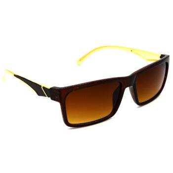 Air Strike Brown & Yellow Lens Golden & Silver Frame Sun Goggles For Men Women Boys & Girls - HCMBO5014 - extra -5