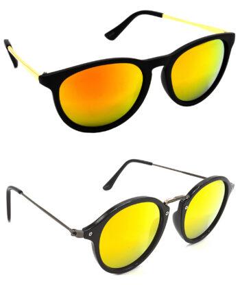 Air Strike Golden Lens Golden & Grey Frame Best Goggles For Men Women Boys & Girls - HCMBO5052
