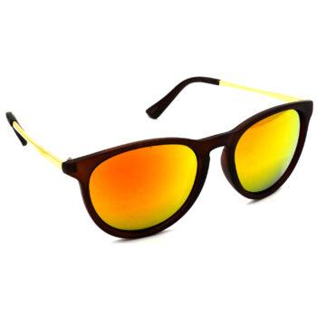 Air Strike Golden & Yellow Lens Golden & Silver Frame Sunglasses Styles For Men Women Boys & Girls - HCMBO5203 - extra -5