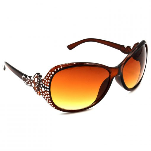 Air Strike Brown & Yellow Lens Silver Frame Sun Goggles For Men Women Boys & Girls - HCMBO5388 - extra -5
