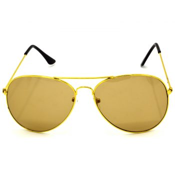 Air Strike Brown & Yellow Lens Golden & Silver Frame New Goggles For Men Women Boys & Girls - HCMBO928 - extra -1