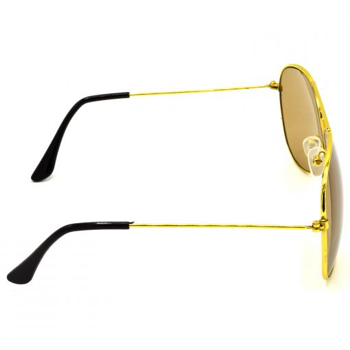 Air Strike Brown & Yellow Lens Golden & Silver Frame New Goggles For Men Women Boys & Girls - HCMBO928 - extra -3