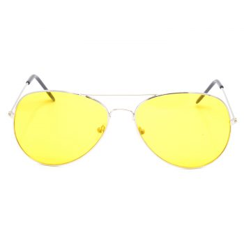 Air Strike Yellow Lens Silver Frame Sun Goggles For Men Women Boys & Girls - HCMBO1189 - extra -1