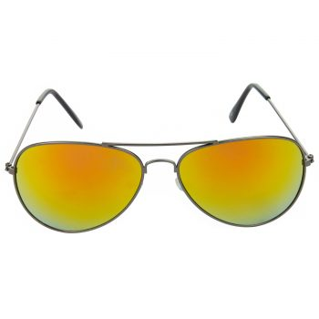 Air Strike Yellow Lens Grey & Silver Frame Sunglasses For Men & Boys - HCMBO2788 - extra -1
