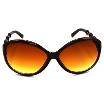 Air Strike Brown & Yellow Lens Brown & Silver Frame Fashion Goggles For Men Women Boys & Girls - HCMBO3133 - extra -1