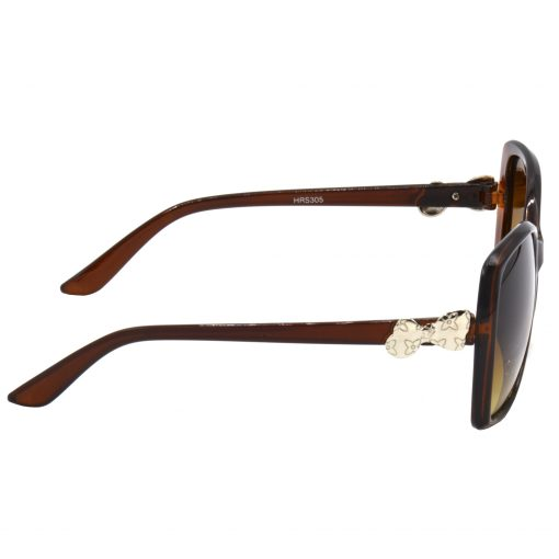Air Strike Clear & Yellow Lens Brown & Silver Frame Sunglasses For Men Women Boys & Girls - HCMBO4114 - extra -3