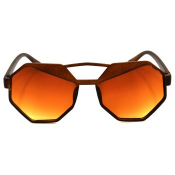 Air Strike Brown & Yellow Lens Brown & Silver Frame UV Protection Glasses For Men Women Boys & Girls - HCMBO4524 - extra -1