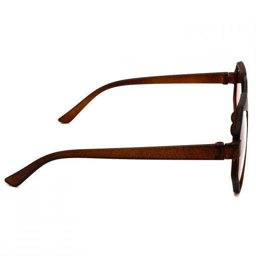 Air Strike Brown & Yellow Lens Brown & Silver Frame UV Protection Glasses For Men Women Boys & Girls - HCMBO4524 - extra -3