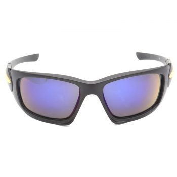 Air Strike Blue & Yellow Lens Black & Silver Frame Sunglasses For Men & Boys - HCMBO4624 - extra -1