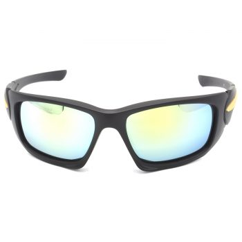 Air Strike Silver & Yellow Lens Black & Silver Frame Stylish Goggles For Men & Boys - HCMBO4723 - extra -1