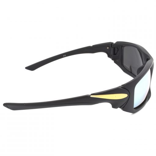 Air Strike Silver & Yellow Lens Black & Silver Frame Stylish Goggles For Men & Boys - HCMBO4723 - extra -3