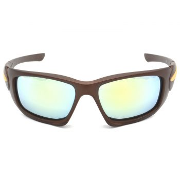 Air Strike Silver & Yellow Lens Brown & Silver Frame New Goggles For Men & Boys - HCMBO4821 - extra -1