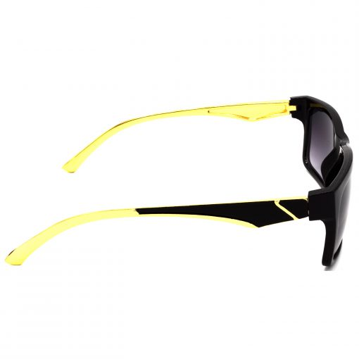 Air Strike Grey & Yellow Lens Golden & Silver Frame Fashion Goggles For Men Women Boys & Girls - HCMBO4918 - extra -3