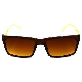 Air Strike Brown & Yellow Lens Golden & Silver Frame Sun Goggles For Men Women Boys & Girls - HCMBO5014 - extra -1