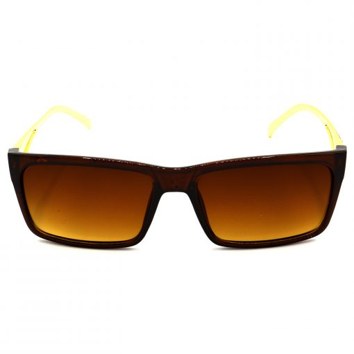 Air Strike Brown & Yellow Lens Golden & Silver Frame Sun Goggles For Men Women Boys & Girls - HCMBO5014 - extra -1