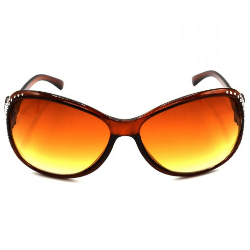 Air Strike Brown & Yellow Lens Silver Frame Sun Goggles For Men Women Boys & Girls - HCMBO5388 - extra -1