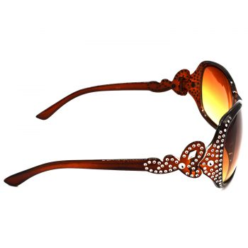 Air Strike Brown & Yellow Lens Silver Frame Sun Goggles For Men Women Boys & Girls - HCMBO5388 - extra -3