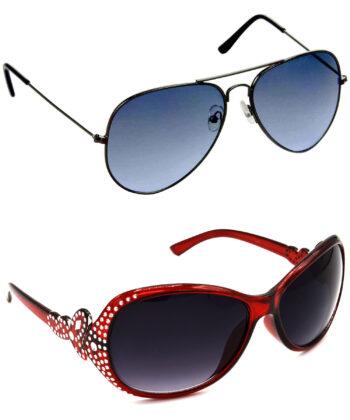 Air Strike Blue & Grey Lens Grey & Silver Frame Safety Goggles For Men Women Boys & Girls - HCMBO573