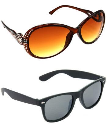 Air Strike Brown & Black Lens Silver & Black Frame Latest Goggles For Men Women Boys & Girls - HCMBO5736