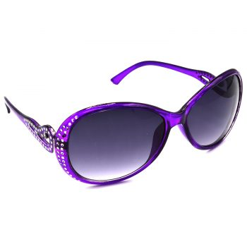 Air Strike Grey & Yellow Lens Violet & Silver Frame UV Protection Glasses For Men Women Boys & Girls - HCMBO5833 - extra -5