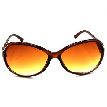 Air Strike Brown & Yellow Lens Silver Frame Sunglasses For Men Women Boys & Girls - HCMBO5746 - extra -1
