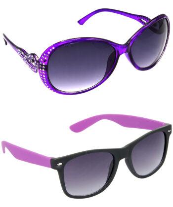 Air Strike Grey Lens Violet Frame New Sunglasses For Men Women Boys & Girls - HCMBO5825