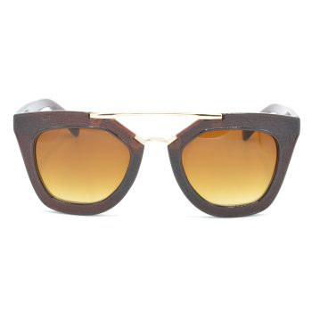 Air Strike Brown & Yellow Lens Golden & Silver Frame Sun Goggles For Men Women Boys & Girls - HCMBO6493 - extra -1