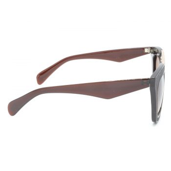 Air Strike Brown & Yellow Lens Golden & Silver Frame Sun Goggles For Men Women Boys & Girls - HCMBO6493 - extra -3
