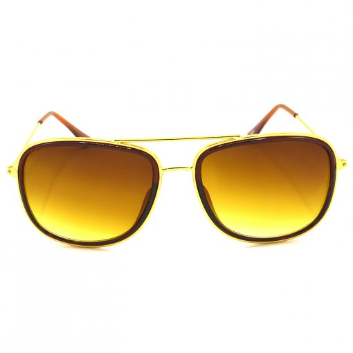 Air Strike Brown & Yellow Lens Golden & Silver Frame New Goggle For Men Women Boys & Girls - HCMBO6724 - extra -1