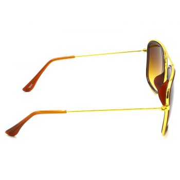 Air Strike Brown & Yellow Lens Golden & Silver Frame New Goggle For Men Women Boys & Girls - HCMBO6724 - extra -3