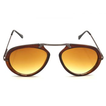 Air Strike Clear & Yellow Lens Brown & Silver Frame UV Protection Glasses For Men Women Boys & Girls - HCMBO7363 - extra -1