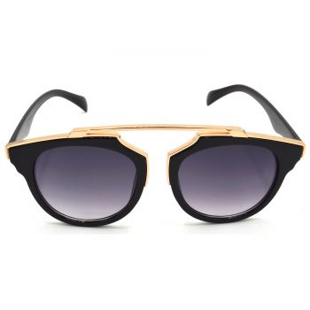 Air Strike Grey & Yellow Lens Golden & Silver Frame Sunglasses Styles For Men Women Boys & Girls - HCMBO7804 - extra -1