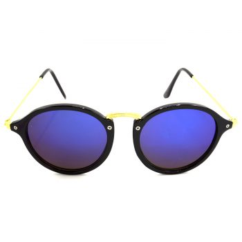 Air Strike Blue & Yellow Lens Golden & Silver Frame Sun Goggles For Men Women Boys & Girls - HCMBO7921 - extra -1