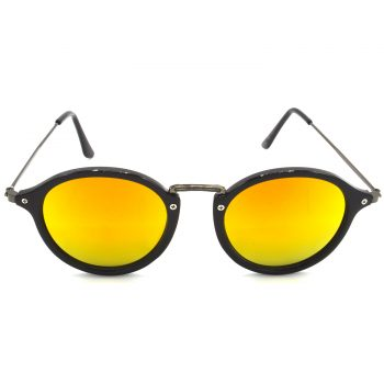 Air Strike Golden & Yellow Lens Grey & Silver Frame Fashion Goggles For Men Women Boys & Girls - HCMBO7978 - extra -1