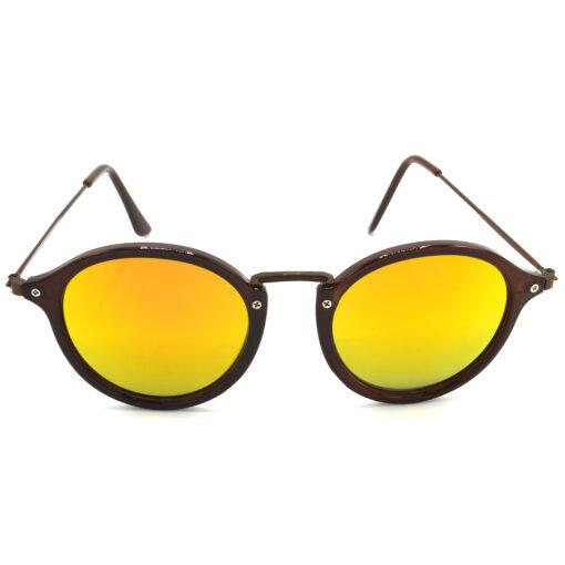 Air Strike Golden & Yellow Lens Brown & Silver Frame Sunglasses For Men Women Boys & Girls - HCMBO8143 - extra -1