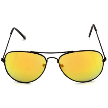 Air Strike Golden & Yellow Lens Black & Silver Frame New Goggles For Men Women Boys & Girls - HCMBO8493 - extra -1