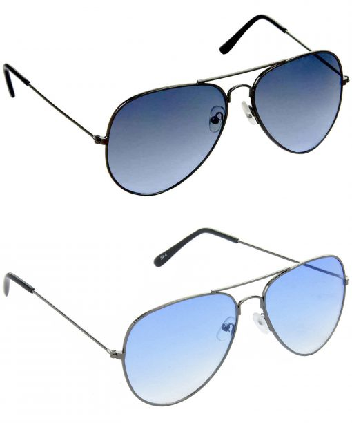 Air Strike Blue Lens Grey Frame Stylish Goggles For Men & Boys - HCMBO660
