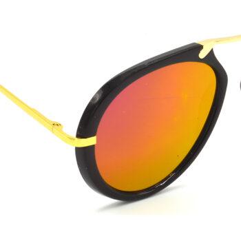 Air Strike Pink & Yellow Lens Golden & Silver Frame Sunglasses For Men Women Boys & Girls - HCMBO7089 - extra -6