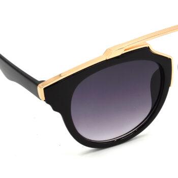 Air Strike Grey & Yellow Lens Golden & Silver Frame Sunglasses Styles For Men Women Boys & Girls - HCMBO7804 - extra -6