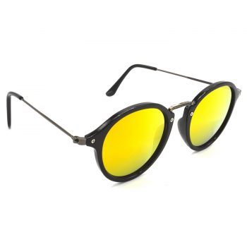 Air Strike Golden & Yellow Lens Grey & Silver Frame Fashion Goggles For Men Women Boys & Girls - HCMBO7978 - extra -5