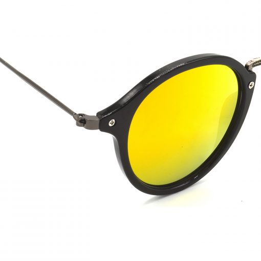 Air Strike Golden & Yellow Lens Grey & Silver Frame Fashion Goggles For Men Women Boys & Girls - HCMBO7978 - extra -6