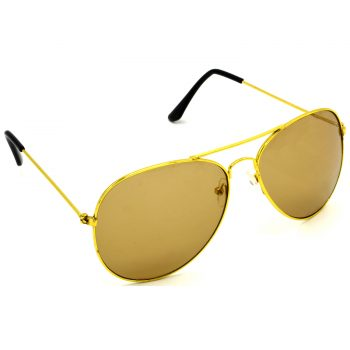 Air Strike Brown & Yellow Lens Golden & Silver Frame New Goggles For Men Women Boys & Girls - HCMBO928 - extra -5