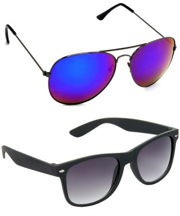 Air Strike Pink & Grey Lens Grey & Black Frame Latest Sunglasses For Men Women Boys & Girls - HCMBO8423