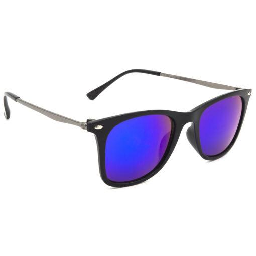 Air Strike Blue & Yellow Lens Grey & Silver Frame Sun Goggles For Men Women Boys & Girls - HCMBO8754 - extra -5
