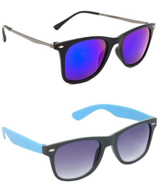 Air Strike Blue & Grey Lens Grey & Blue Frame Best Goggles For Men Women Boys & Girls - HCMBO8741